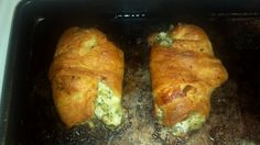 Delious homemade ranch, broccoli chicken cressant pockets! 2 cups Cooked Cubed chicken mixed with 2 cups of steamed chopped broccoli and 1/2 cup of ranch on a bed of provalone wrapped in a cressant roll and baked at 375 for 20 mins!