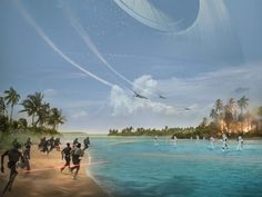 People are complaining about the size of the Death Star in the Rogue One poster. Here's how you could actually make that picture.