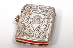 Antique Sterling Silver Vesta Match Case ITEM by WarrenExchange, $135.00