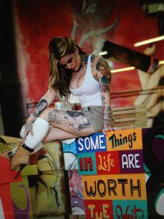 Tatu Baby Tatu Baby, Female Tattoo Artists, Tattoo Models, Pin Up, Ink, Tattoos, Curves, Tatuajes, Tattooed Models