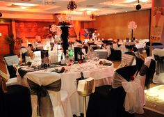 The Celestial Hall set up in 20s style decor for a Great Gatsby-themed gala.