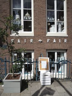 Fair + Fair * FAIR+FAIR stands for FAIR shopping for a FAIR home with really wonderful, mostly handmade, accessories from all over the world. *at the corner Herengracht - Raadhuisstraat Amsterdam * by Met Melk & Suiker