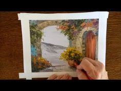 (47) Grayscale coloring tutorial demo ~ Charming Villas by the Sea: Adult Grayscale Coloring Book - YouTube