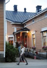 Loftet Oy Ab is in the town of Vaasa, Finland in a charming timber house built in the 1860s.The house has been renovated respecting its traditions and it displays many beautiful architectural details. In the Café you can enjoy local delicacies in a beautiful setting.
