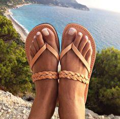 405aa3c6b1a Sandalias de cuero, sandalias de verano, sandalias griegas, sandalias de  cuero clásicas, sandalias de mujer, sandalias de cuero griego