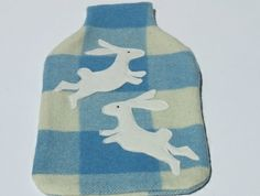 "Hotwater Bottle Cover ""Dancing Rabbits"""