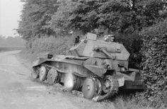 Knocked out Cruiser Tank. Either a Cruiser Mk. III or Mk.IV