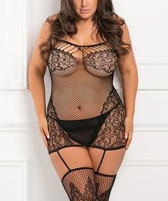 579d8839944fb Black to the Nines Bodystocking - Plus  zulilyfinds Plus