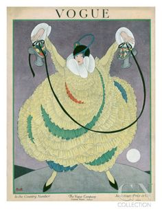 Vogue Cover - June 1917 Poster Print by George Wolfe Plank at the Condé Nast Collection
