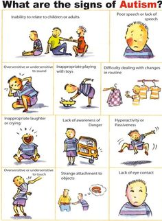 What are the signs of Autism? Repinned by  SOS Inc. Resources.  Follow all our boards at http://pinterest.com/sostherapy  for therapy resources.