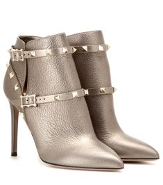 Valentino Rockstud metallic leather ankle boots Gold : Buy replica watches,  designer replica handbags, cheap wallets, shoes for sale