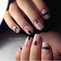 Аккуратный маникюр, Вечерний дизайн ногтей, Вечерний маникюр гель лаком, Двухцветные ногти, Двухцветный маникюр шеллак, Идеи двухцветного маникюра, Интересные ногти, Красивый вечерний маникюр