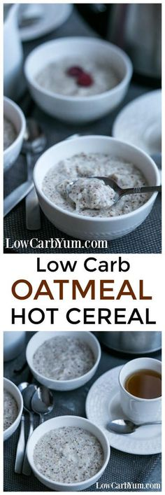 Do you love the comfort of hot cereal on a cold morning? If so, this yummy low carb oatmeal recipe is sure to become a favorite.   LowCarbYum.com