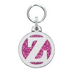 Personalized Dog Tag with Engraving - Letter Z (Pink Sparkle - Large) ** You can find out more details at the link of the image.
