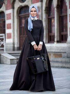 Robe rubis étoiles - Noir - Muslima Porter