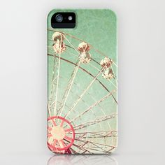 "iphone case- ""ferris wheel on blue textured sky"" (would also be a nice print)- just purchased!! love it!!!"