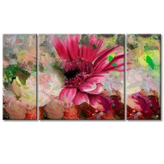 Ready2hangart 'Painted Petals LXIV' 3-piece Canvas Wall Art Set
