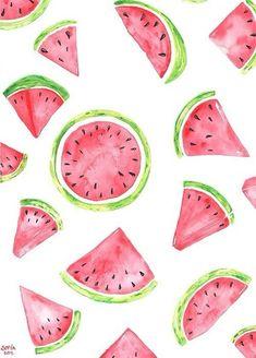 Imagen de watermelon, fruit, and wallpaper