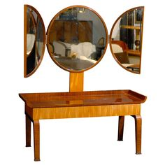 Swedish Art Deco Moderne Dressing Table attributed to Boet | 1stdibs.com