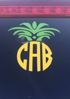 Show off your southern hospitality with this 5 monogrammed pineapple decal! You can spruce up your car with this decal, add it to your laptop,