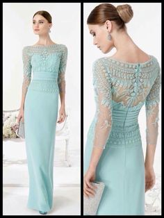 In Latino communities a quinceanera is just a revered coming old event… Social Dresses, Mob Dresses, Dresses With Sleeves, Mother Of The Bride Dresses Vintage, Mother Of Groom Dresses, Green Wedding Dresses, Bridal Dresses, Mermaid Evening Gown, Evening Dresses