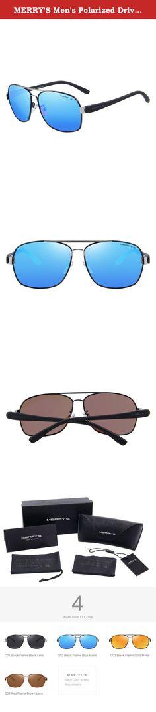5a8831db9c MERRY S Men s Polarized Driving Sunglasses TR90 Color Mirror Lens Sun  Glasses S8501 (Blue