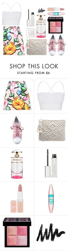 """""""floral forever"""" by lialicious ❤ liked on Polyvore featuring Love Moschino, Theory, adidas, Givenchy, Rimmel, Maybelline and Herbivore"""