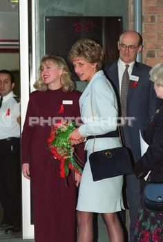 December 1, 1994 Diana Princess Of Wales At The National Aids Trust Sexual…