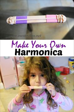Make your own harmonica - simple craft that will delight your kids!