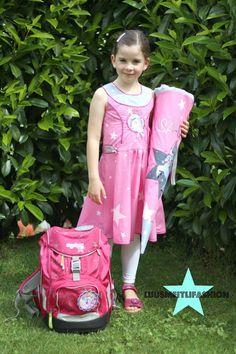 Einschulungskleid und Schultüte Kletties für den Ergobag selber machen DIY http://www.luusmeitlifashion.de/search?q=ergobag