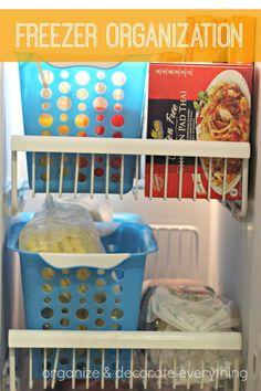 Great ideas on freezer organization