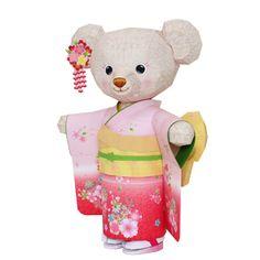 着物テディベア - おもちゃ - ペーパークラフト - キヤノン クリエイティブパーク