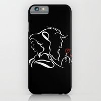 iPhone & iPod Case featuring Beauty And Beast BW by alexa