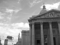 The Pantheon in Paris in Black and White.  My own photograph taken on my most recent visit.