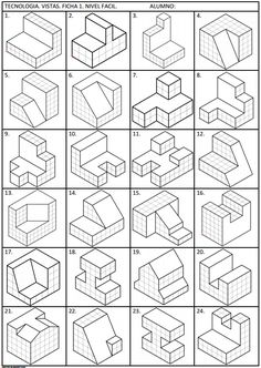 Bildergebnis für perspektivische Zeichenübungen – My Great Pins Isometric Sketch, Isometric Art, Isometric Design, Isometric Drawing Exercises, Orthographic Drawing, Interesting Drawings, Architecture Concept Drawings, Cube Design, Geometry Art