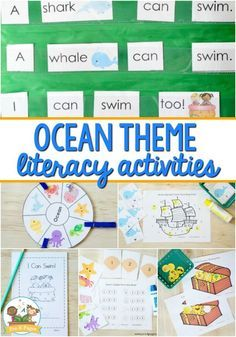Preschool Ocean Theme Literacy Activities - Pre-K Pages