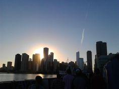 Puesta de sol en chicago
