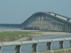 Approaching the bridge leading to the Outer Banks!