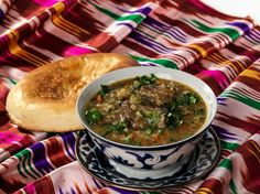 Russian Food - Uzbek cuisine - Mastava - made with lamb, onions, carrots, and a few other ingredients.