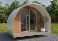 Our pods are great for luxury camping, glamping & events. IntuPod is a popular choice for garden office pods with finance options available. Outdoor Office, Outdoor Rooms, Backyard Office, Pond Design, Garden Design, Garden Dividers, Contemporary Radiators, Garden Pods, Office Pods