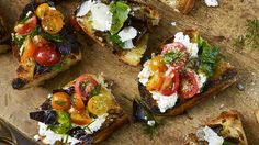 Grilled Bread with Ricotta and Tomatoes Recipe | Bon Appetit