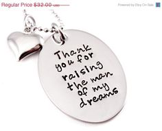 MOTHERS DAY SALE Personalized Mother In Law by Stampressions, $24.00