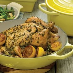 Roast Chicken with Lemon and Herbs | Le Creuset recipes created for braiser