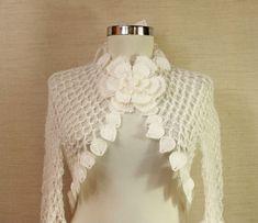 Night in White Satin / Wedding Bridal Shrug Bolero