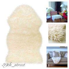 Ikea Tejn Faux Sheepskin Rug Armchair D Soft Cozy Home Decor New