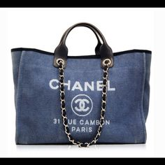 Chanel blue cabas ete canvas tote My Summer Bag ☀️