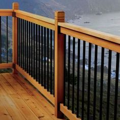 Stair Railing Kits, Metal Deck Railing, Deck Railing Systems, Deck Balusters, Deck Railing Design, Patio Deck Designs, Railings For Decks, Garden Railings, Railing Ideas