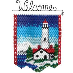 Herrschners®  Winter Lighthouse Beaded Banner Kit