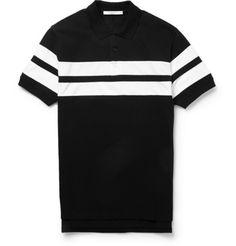 GivenchyStriped Cotton Polo Shirt