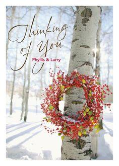 Welcome Wreath - New Year Greeting Card in Red Lantern   Hallmark
